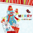 Template christmas greeting card, vector - Stock Vector
