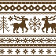 Seamless knitted christmas pattern, vector - Stock Vector