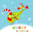 Template christmas greeting card, vector — Stock Vector #25151691