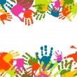 Prints of hands of the child, vector illustration - Stock Vector