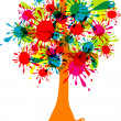 Blot abstract tree, vector - Stock Vector