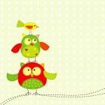 шаблон поздравительной открытки, вектор — Cтоковый вектор