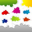 Template speak bubbles, vector - Stock Vector