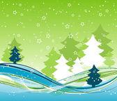 Sjabloon kerstmis achtergrond, vector — Stockvector