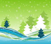 Template christmas background, vector — Stock Vector