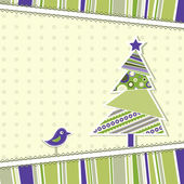 Template christmas greeting card, vector — Stock vektor