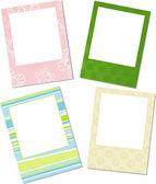 Template photo frames, vector — Stock Vector