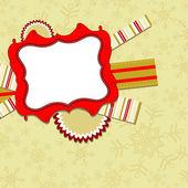 テンプレートは、グリーティング カード クリスマス、ベクトル — ストックベクタ