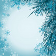 Christmas tree background, vector - Stock Vector