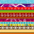 Scrapbook christmas patterns for design, vector — Stock Vector