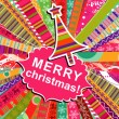 Royalty-Free Stock Vector Image: Scrapbook christmas patterns greeting card for design, vector