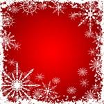 Winter grunge snowflakes background, vector — Stock Vector