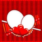 Carte de voeux pour le coeur modèle, vector — Vecteur