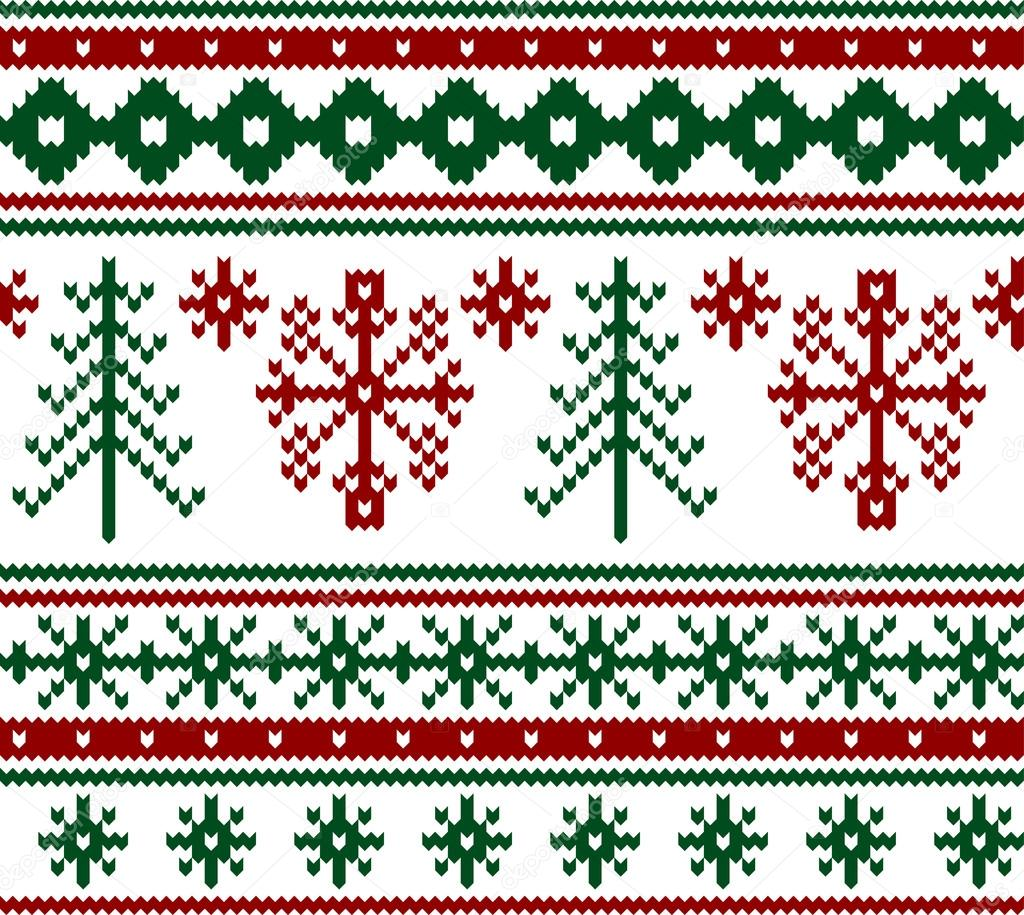 Knit Pattern Christmas Vector : Seamless knitted christmas pattern, vector   Stock Vector ? Tolchik #25252553