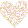 Valentines Day, heart, background, vector — Imagen vectorial