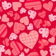 Seamless valentine pattern, vector — Stockvectorbeeld