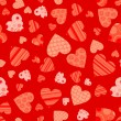 Seamless valentine pattern, vector — ストックベクタ