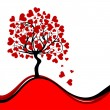 Stock Vector: Valentines tree background, vector