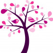 Valentines tree background, vector — Stock Vector #25855221