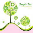 Tree abstract background, vector — Stock Vector