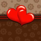 šablona srdce přání, vektor — Stock vektor