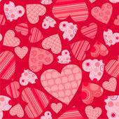 Seamless valentine pattern, vector — Stock Vector