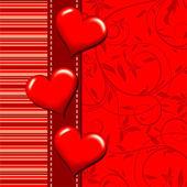 Sjabloon hart wenskaart, vector — Stockvector