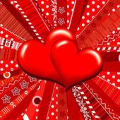 Template heart greeting card, vector — Stock Vector