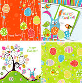 Template Easter greeting card, vector — Stock Vector