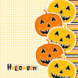 Template Halloween greeting card, vector — Stock Vector
