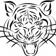 Abstract tattoo tiger, vector — Stockvector #28586223