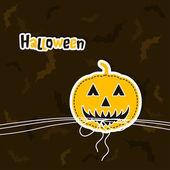 Template Halloween greeting card, vector — Stock Vector