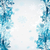 Seamless snowflakes pattern, vector — Stock Vector