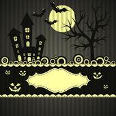 шаблон открытки хэллоуин, вектор — Cтоковый вектор