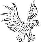 Abstract eagle, vector — Stock Vector