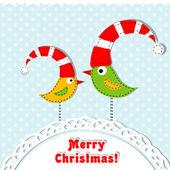 Plantilla tarjeta de felicitación de navidad, vector — Vector de stock