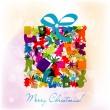 Template Christmas greeting card, vector — Stock Vector