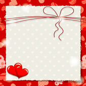 Valentine heart pattern and background, vector — 图库矢量图片