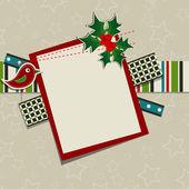 Mall christmas gratulationskort, vektor — Stockvektor
