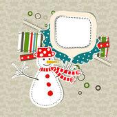 шаблон рождественских поздравительных открыток, вектор — Cтоковый вектор