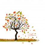 Tree autumn background, vector — Stock Vector #34336433