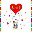 Love story card, vector — Vettoriale Stock