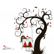 Love story card, vector — Vettoriale Stock  #34336429