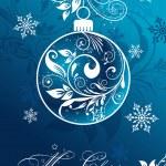 Christmas card with an ornament, vector — Stock Vector #34336471
