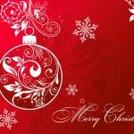 Christmas card with an ornament, vector — Stock Vector #34336487