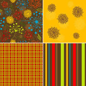 Seamless floral pattern, vector — Stock Vector