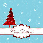 Template Christmas greeting card, vector — Vettoriale Stock