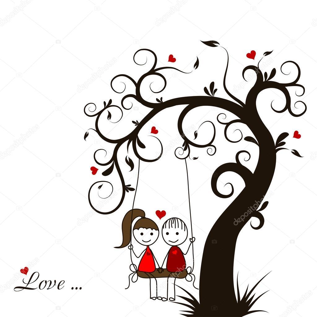 Love story card vector stock vector tolchik 34336429 - Dibujos de vinilo para paredes ...