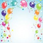 Color beautiful party balloons, vector — Stock Vector #35875565