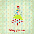 Christmas greeting card, vector — Vettoriali Stock